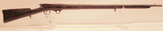 Lot #402 - AH Waters Green Breech Loading Rifle