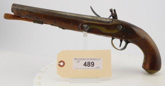 Lot #489 -Ketland Flint Lock Percussion Pistol