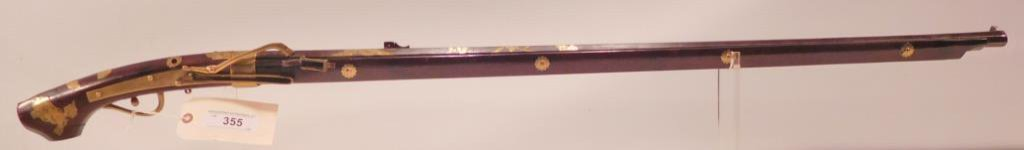 Lot #355 - Unk Maker Japanese Matchlock Rifle