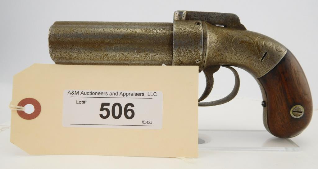 Lot #506 -Allen & Wheelock 6 SHot Pepperbox
