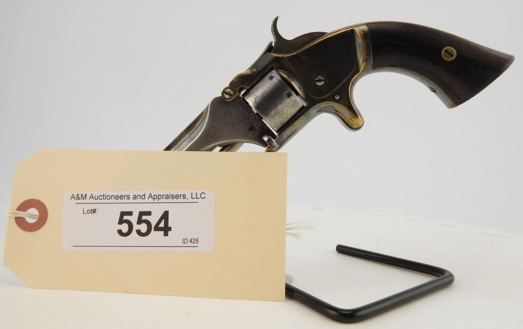Lot #554 -S&W1, 2nd Iss. Spur Trigger Rev.