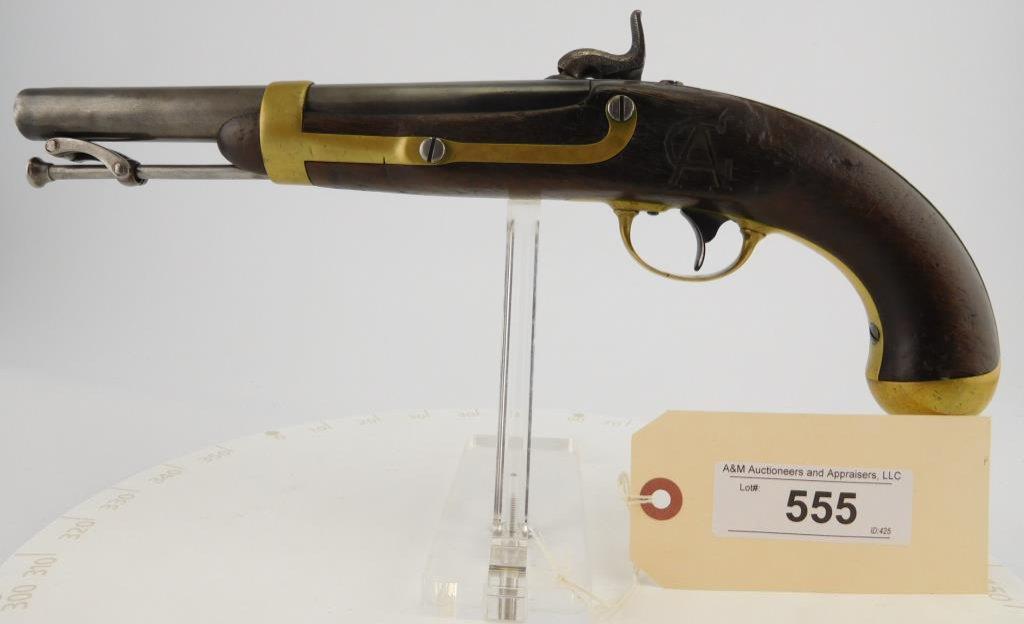 Lot #555 -US/IN Johnson1842 Perc. Pistol