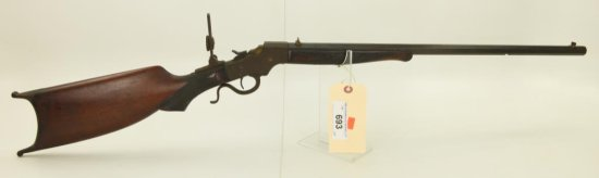 Lot #693 -J. Stevens44 ½ Schutzen style rifle