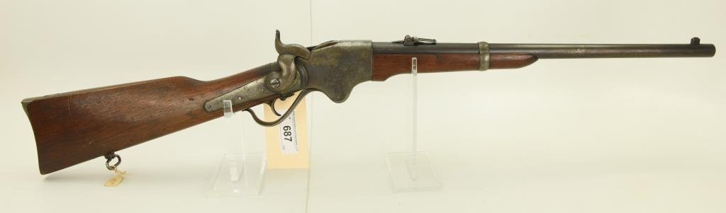 Lot #687 -Burnside 1865 Spencer Saddle Ring Contract Carbine