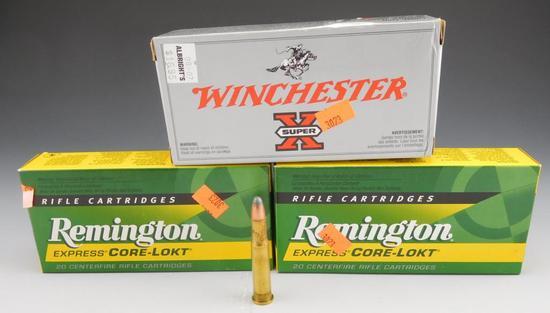 Lot #16 -(2) full boxes of Remington core-lokt30-30 win, 150 grain, (1) full box of  Winchester