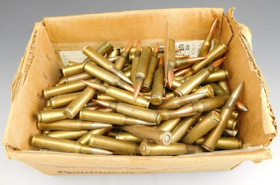 Lot #175 - Box of miscellaneous rifle ammo (mostly 6.5 x 55 Swedish)