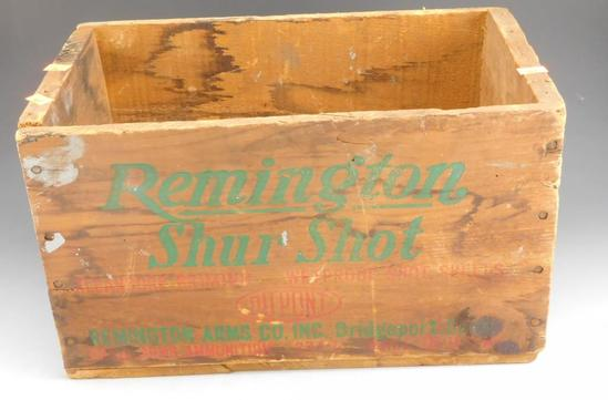 Lot #297 - Vintage Remington Shur shot, shotgun ammo crate