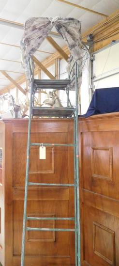 Lot #314 - 6 foot Steel ladder Deer stand with seat