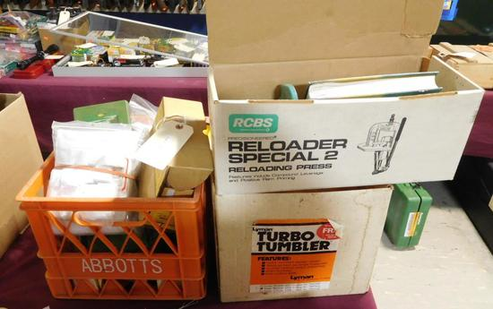Lot #9 -  RCBS Reloader Special 2 Reloading press, Lyman Turbo Tumbler, Forster Products  Preci
