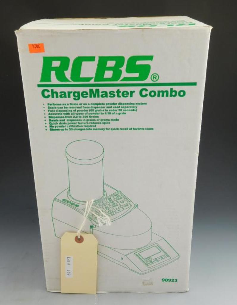 Lot #159 -RCBS Charge Master Combo with digitaldisplay in original box