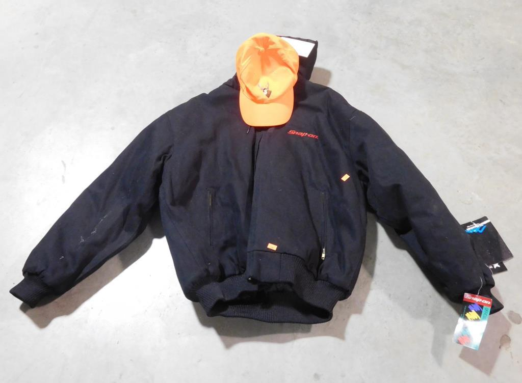Lot #298 - Tn-Mountain Snap-on Jacket, XL, with tags, and Florescent Orange hat
