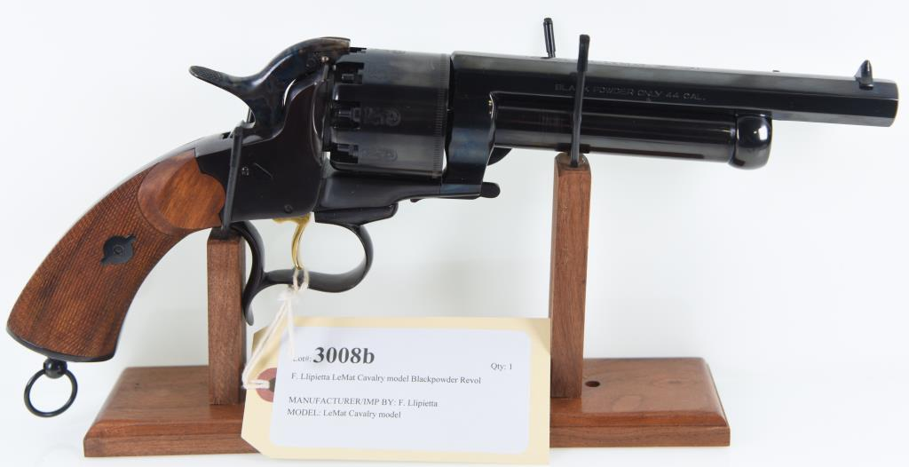 F. Llipietta LeMat Cavalry model Blackpowder Revolver