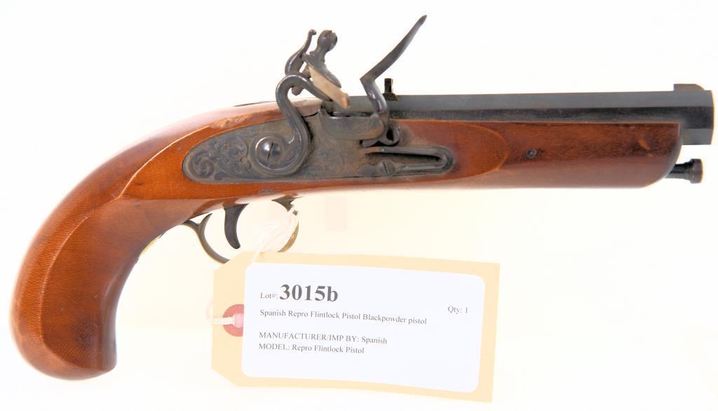 Spanish Repro Flintlock Pistol Blackpowder pistol