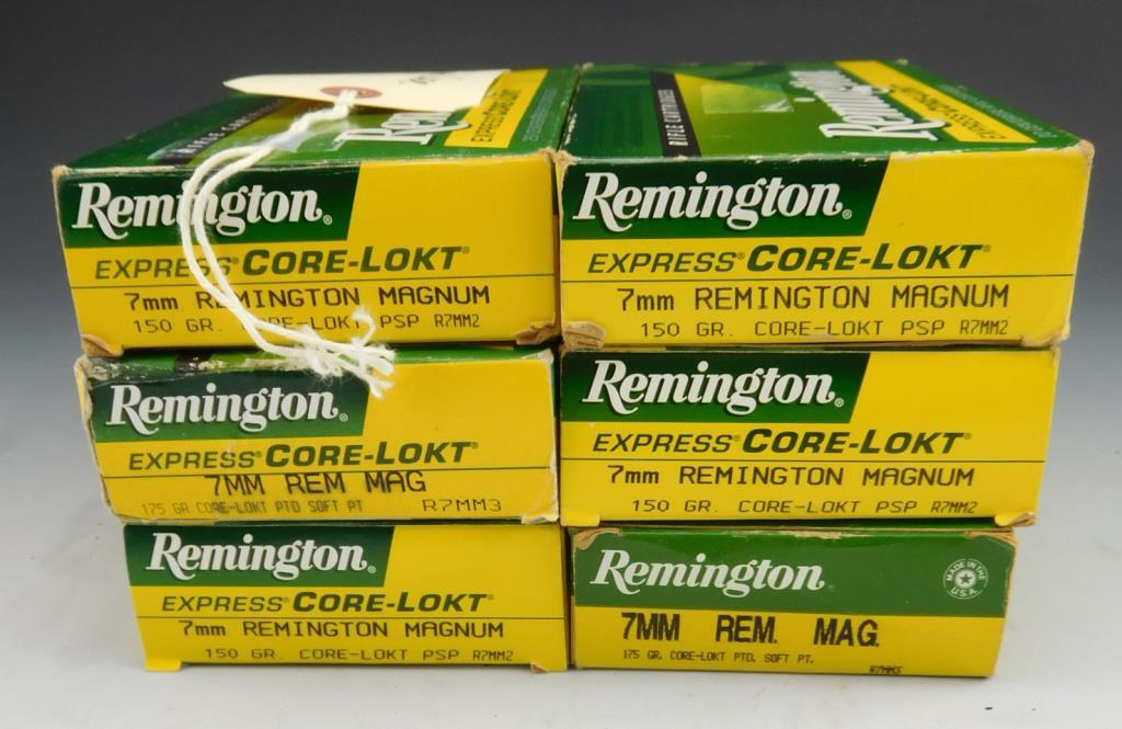 Lot #53 -(6) full boxes of empty cases ofRemington 7mm Remington Magnum ones fired