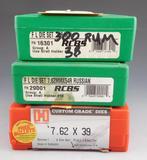 Lot #163 -(2) RCBS Reloading Dies: 300 Ultra,7.62MM x54R, (1) Hornady Custom reloading  die: