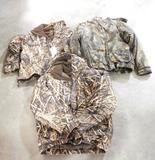 Lot #40 -Drake mens large fleece lined waterfowljacket, Hodgman Mens Large Camo Jacket, Drake