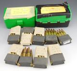Lot #57 -(100) rounds of 223 reloads, 40 GR,H.P, (9) Enbloc Clip for M1 Garand with 8  rounds