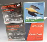 Lot #60 -(+ or – 30) shells of Winchester,20 GA, 2 ¾ in, 7 ½, (+ or – 15) shells of  Remington
