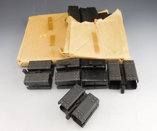 Ten HK MP5 30 Rd Mags in Orig. Paper Packaging Date Code IG. + 5 HK Double Mag Couplers.   Mags
