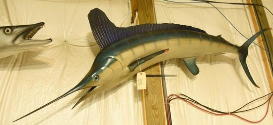 "White Marlin Mount Approx. 78"" in length THIS ITEM IS NOT SHIPPABLE. Due to the Size  Item needs"