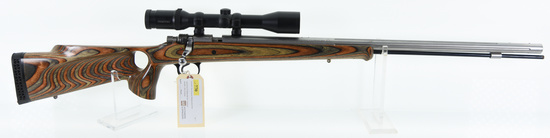 Knight Disc Extreme .45 Cal Blackpowder Rifle W/Thumbhole Laminate Stock & Stainless Fluted BBL