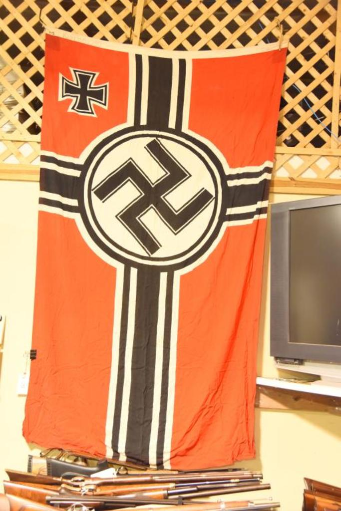 German Nazi battle flagFlag is in good overall condition.  The hoist  of the flag is marked
