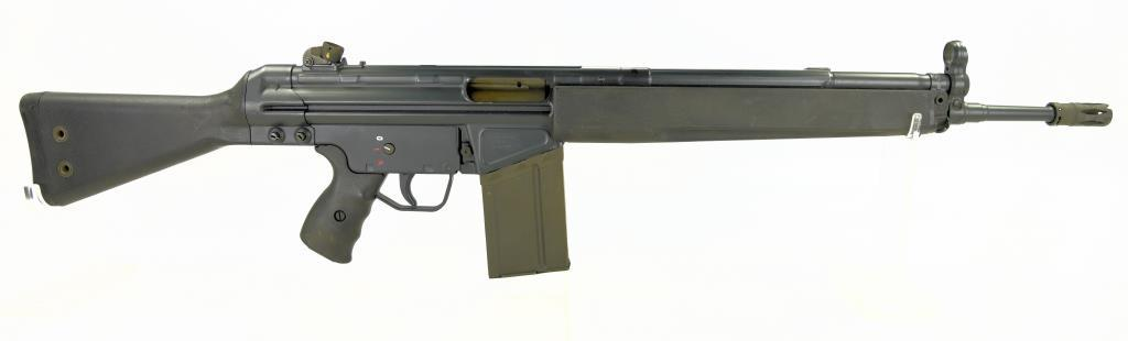 "Heckler & Koch G3 Full Auto Machine Gun SN# A039166. ""IB"" Date code (1981) Name of Mfg on Form 4 is"
