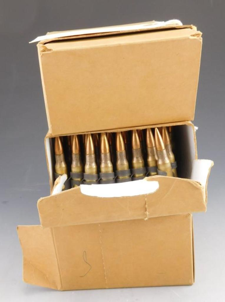 Three Boxed 100 Rd +/- Belts of 7.62x51mm for HK21(300 Rds +/-)