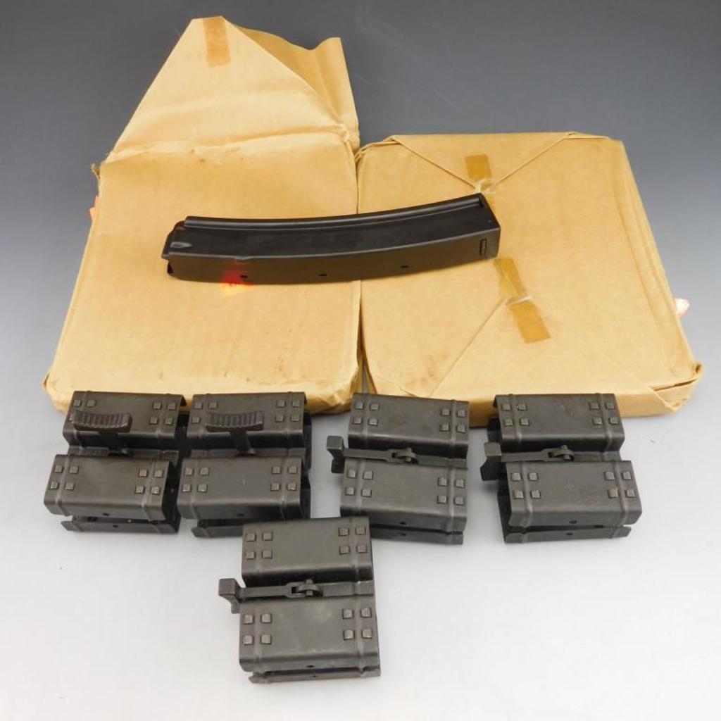Ten HK MP5 30 Rd Mags in Orig. Paper PackagingDate Code IG. + 5 HK Double Mag Couplers.   Mags
