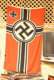 German Nazi battle flag Flag is in good overall condition.  The hoist  of the flag is marked