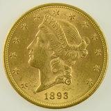 Lot #11 - 1893 $20 Double Eagle Gold Piece