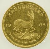 Lot #13 -1982 South Africa Krugerand 1 Oz Gold Coin