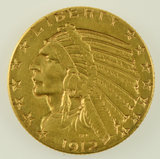 Lot #16 - 1912 $5 Indian Head Gold Coin