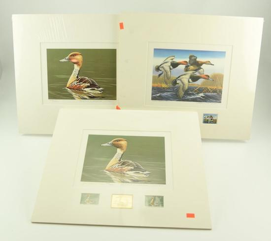 Lot #303 -(3) Duck stamp prints: (2) 1986-87 Federal Duck stamp print by Burton Moore Gold Medal
