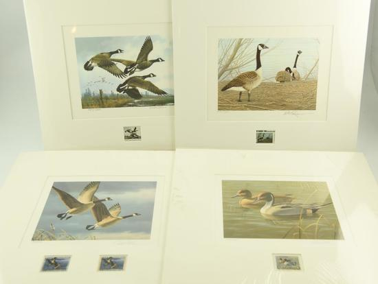 Lot #307 - 1984 First of State Oregon Wildfowl Stamp Print, First of State 1985 Wyoming Stamp