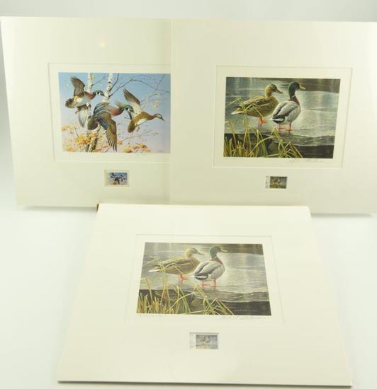 Lot #309 - 1986 Vermont First of State Migratory Waterfowl Stamp Print, Kentucky 1985 First of