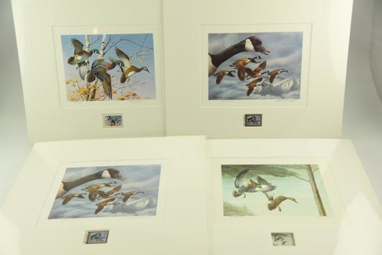 Lot #310 - (2) 1985 First of Canada Wild Habitat Limited Edition stamp print by Robert Bateman,
