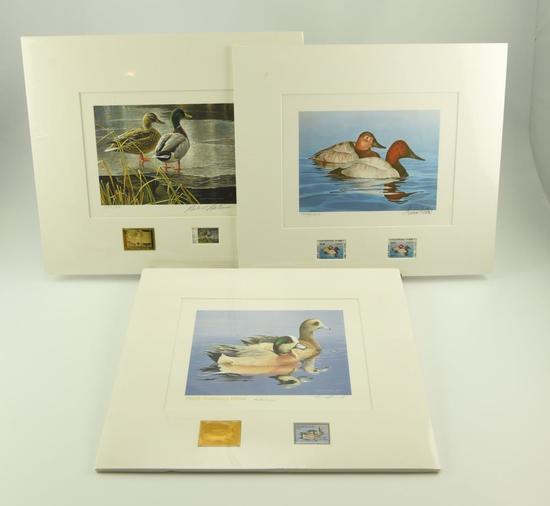 Lot #311 - 1985 Canada First of State Wildlife Habitat Stamp print by Robert Bateman, First of