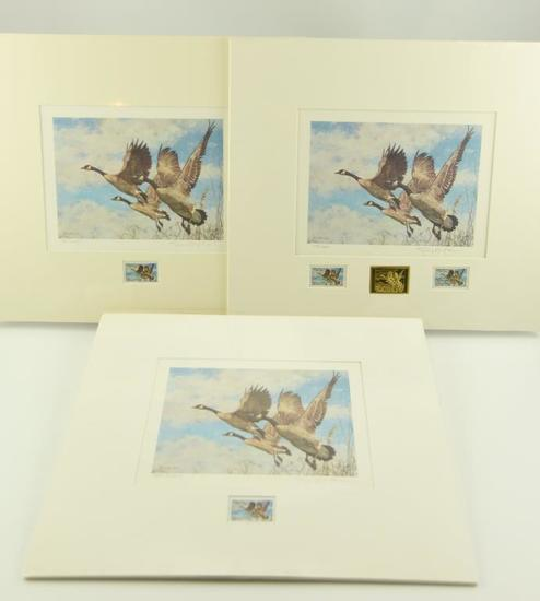Lot #316 - (3) 1987 Canada Wildlife Habitat stamp prints