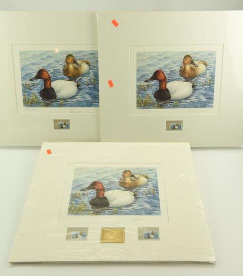 Lot #317 - (3) 1986 Canada Wildlife Habitat stamp prints