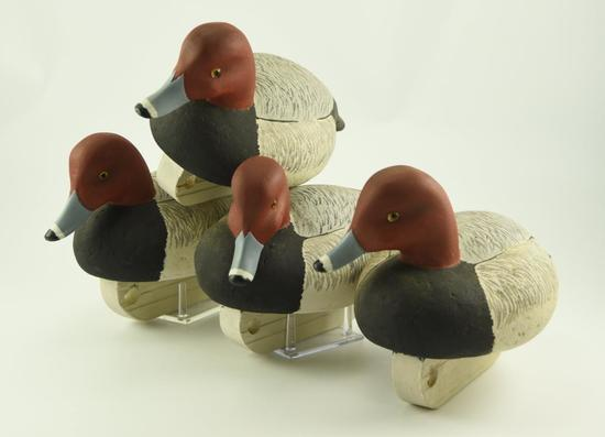 Lot #322 - (4) R. Taylor Cork body Redhead decoys (excellent condition)