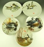 Lot #812 - Five Waterfowl Collectors plates to include: Amer. Waterbirds