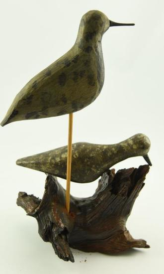 Lot #351 -(2) Early working Plover decoys (from the Mort Kramer Collection)