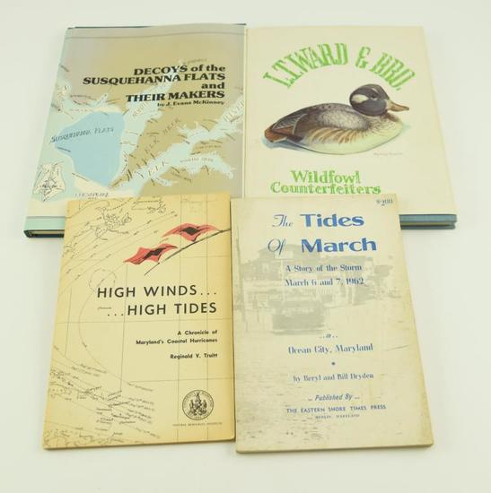 Lot #352 -(4) Books: High Winds and High Tides A Chronical of Maryland's Coastal Hurricanes, T