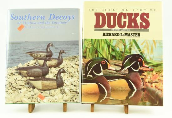 Lot #353 - (2) Decoy Books: Southern Decoys of  Virginia and the Carolinas by Henry Fleckenstei