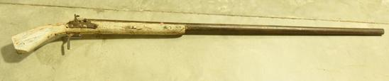 Lot #354 -Important Eastern Shore Punt Gun from the Collection of Morton Kramer. Punt gun was