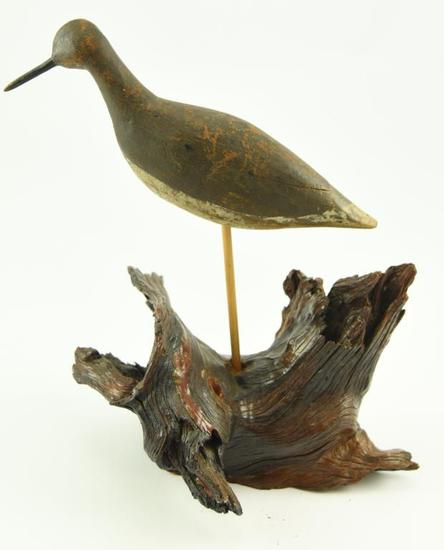 Lot #356 -Primitive Plover stamped the Barb Johnson Collection (from the Mort Kramer Collection)