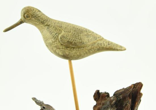 Lot #362 -Hand carved Peep attributed to Obediah Verity Seaford, NY (from the Mort Kramer