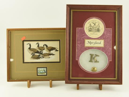 Lot # 4567 -  Framed Louisiana World Expedition Stamp Print with Canada Geese (10 x 12) and