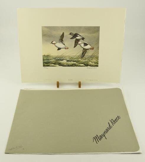 Lot # 4572 -1948 Maynard Reese 4th Edition Duck Stamp print unframed in original folder